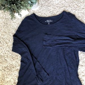 GAP Navy and Comfy Long Sleeve Shirt. Size Large